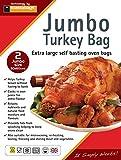 Bolsas Jumbo de asado para horno marca de 55x 60cm, 2unidades–perfectas para asar pavo
