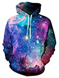 ALISISTER 3D Galaxis Hoodies Kapuzenpullover Herren Damen Neuheit Muster Hooded Pullover Sweatshirt Teen Mädchen Jungen Langarm Kapuzenpullis mit Taschen XXL