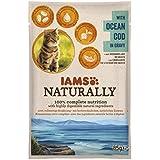Iams Naturally Kabeljau, Nassfutter mit Kabeljau für erwachsene Katzen, Probiergröße, Einzelbeutel (1 x 85 g)