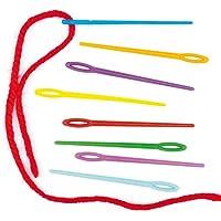 Baker Ross Agujas de plástico de colores (Paquete de 50) Ideales para actividades de costura infantiles