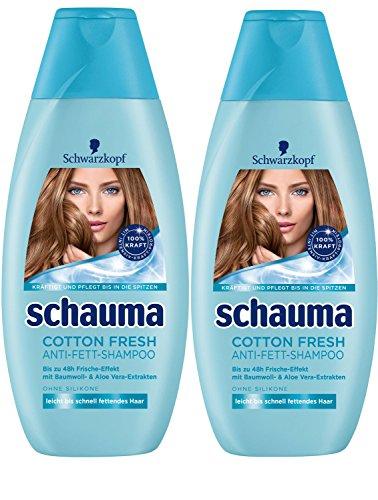 Schwarzkopf Schauma Cotton Fresh Shampoo, 2er Pack (2 x 400 ml)