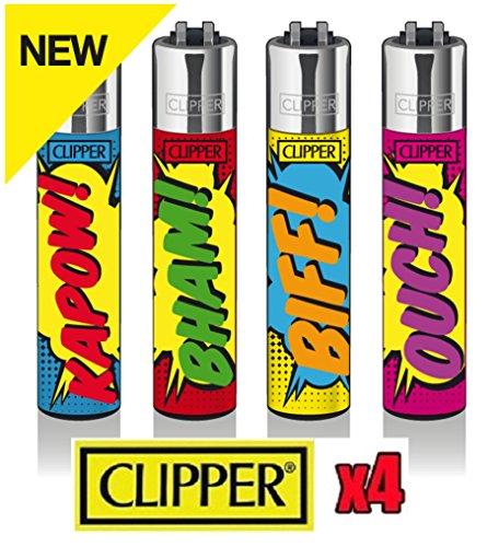 Clipper Classic Cartoon Sounds 5 Stück Feuerzeug verschiedene Farben