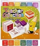 Set Of 6 Self Inking Stamp School Teacher Reward Classroom Well Done Stamps