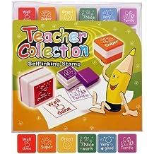 6 autoadhesivas para sello autoentintable juego de para la escuela Classroom de sello de recompensa en su punto