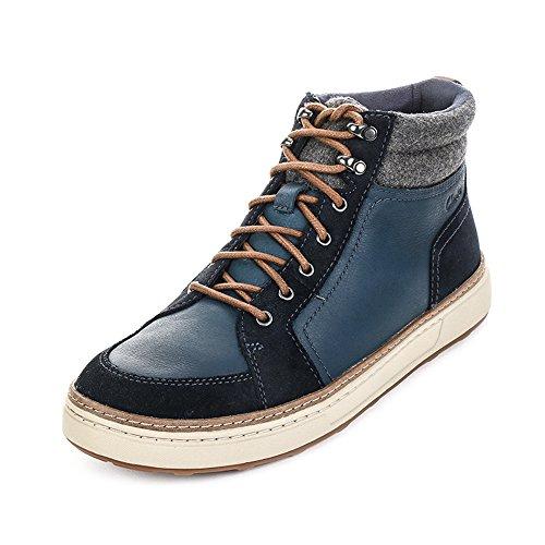 Clarks Lorsen Top, Baskets hautes homme Bleu (Navy WLined Lea)