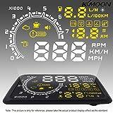 GuDoQi 5.5 Zoll Auto HUD Kopf Oben Display Km/H & Mph Beschleunigung Warnung OBD2 Schnittstelle Windschutzscheibe Projekt System