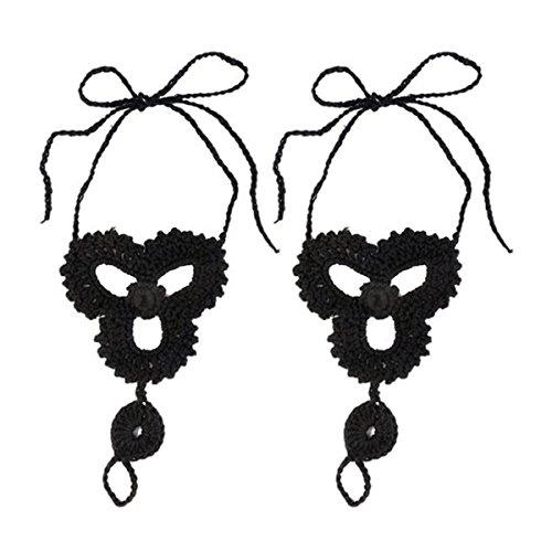 pixnor-coppia-di-donna-beach-barefoot-sandalo-cavigliera-catena-piede-gioielli-colore-nero