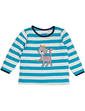 SALT AND PEPPER Baby-Mädchen Langarmshirt B Longsleeve Happy Stripe Ocs