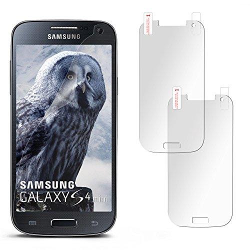 2x Samsung Galaxy S4 Mini Schutzfolie Matt Display Schutz [Anti-Reflex] Screen protector Fingerprint Handy-Folie matte Displayschutz-Folie für Samsung Galaxy S4 Mini Displayfolie
