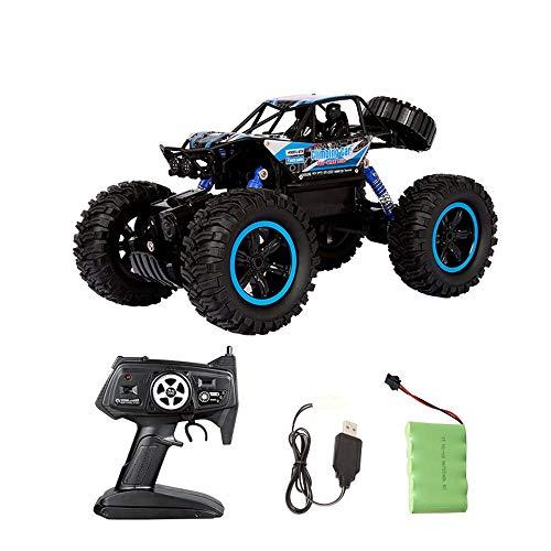 YOOCR Maßstab 1: 14 All-Terrain-RC-Cars, 4WD-Hochgeschwindigkeits-Fernsteuerungs-Truck for Kinder und Erwachsene, 2,4-GHz-Funkfernsteuerung, ferngesteuerte elektronische Autos, ABS-Kunststoff-Off-Road