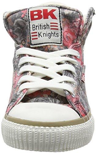 British Knights Dee, Baskets hautes femme Gris - Grau (DK Grey-Red 26)
