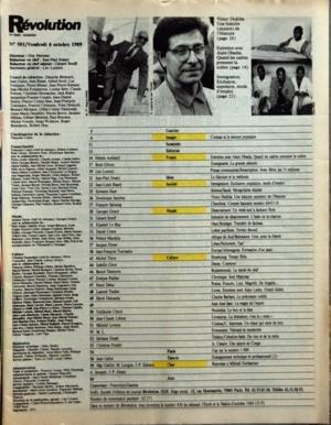 REVOLUTION N? 501 du 06-10-1989 APRES LE DISCOURS DE LA SORBONNE - REPONSES A BORBATCHEV - MGE GAILLOT - M. LAVIGNE ET J.P. KAHANE - COCTEAU ET LE SECOURS POPULAIRE - ALAIN OBADIA PAR AMBLARD - PRESSE COMMUNISTE PAR LORENZI - J.P. JOUARY - IMMIGRATION PAR RAACH - MONGOLISME DEPISTE PAR HUET - VICTOR DOJLIDA PAR SANCHEZ - DESARMEMENT PAR GIRARD - OTAN - STRATEGIE PAR LE BLAY - LUTTES PACIFISTES PAR CIRERA - AFRIQUE DU SUD PAR MANDELA - LIBAN PAR DIMET - ALLEMAGNES PAR TOURNADRE ...
