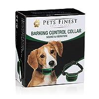 Collier Anti-Aboiement Pets Finest pour Chiens – Collier de Dressage pour Chiens avec Son & Vibration
