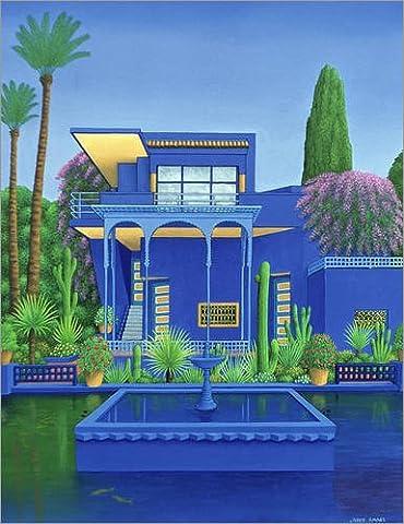 Wood print 90 x 120 cm: Majorelle Gardens, Marrakech by Larry Smart / Bridgeman Images