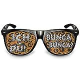 """COOLEARTIKEL Partybrille Motiv """"Ich+Du Bunga Bunga?""""   beklebte Sonnenbrille   Spaßbrille für Mottoparty   Atzenbrille mit UV-Schutz   UV 400 Filter 3   Schwarz"""