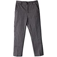 FITYLE Chef Unisex Cocina Uniforme Cocinero Pantalones Baggy Stripe Plus Size - Raya, 2XL