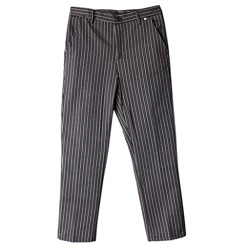 Baosity Pantalón De Chef Profesional Pantalones De Trabajo con 2 Bols