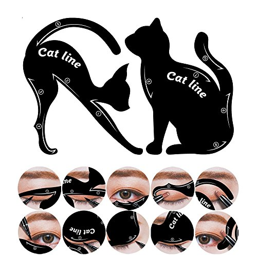 Cat Eyeliner, 10 Styles, Catlook, Cat Eyes by BLISSANY, Cat Eyeliner, Eyeliner Mask, Extravagant Cat, Smokey Eyeliner