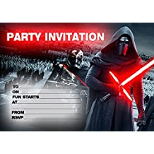 10x Star Wars niños fiesta de cumpleaños invitaciones
