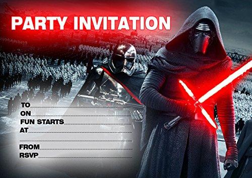 Super Star Wars-10 x biglietti d'invito per feste di compleanno: Amazon  SV25