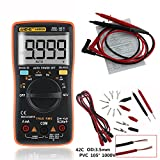 Handheld Digital Portable Multimeter Set AN8009 to Test AC / DC voltage, DC Current, Resistance, Continuity, Diodes, Transistor for Auto, Electrical Engineering and Teachig Lab Orange