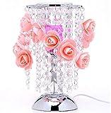 WeieW Elegante Tischleuchte Rose Induktion Aromatherapie Drehtisch Kreative Aromatherapie Aromatherapie Ätherische Öle Schlafzimmer Nachttischlampe (rosa)