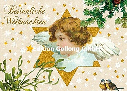 Nostalgische Weihnachtskarte Carola Pabst ~ Engel