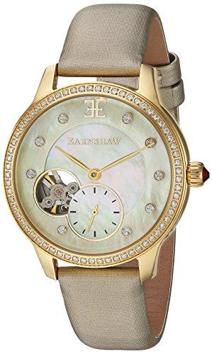 Thomas Earnshaw ES-8029-02 - Reloj para mujeres, correa de cuero color crema