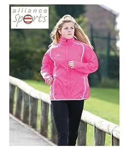 "Ladies Running Rain Jacket (38"" (14))"