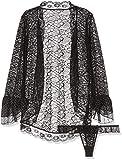 Provocative PR4638 Large/X-Large Black Culte Chic Peignoir Set