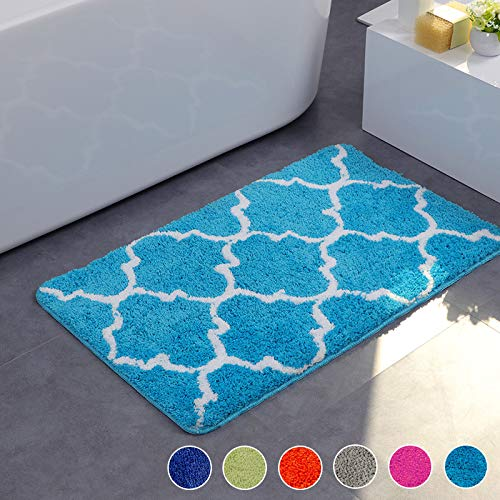 Top Finel Suave geométrica Goma Refuerzo Antideslizante Felpudo área Mat Entrada alfombras Shaggy...
