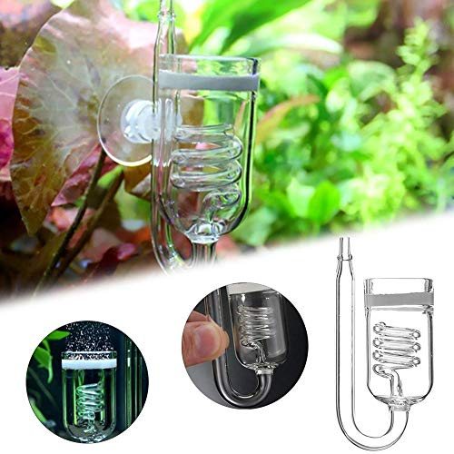 Co2 Diffuser, Micro co2 Bubble Diffuser Air Stone Built In Bubble Counter,  Smallest Smooth Co2 Bubbles, Very Good for Aqua Plants, Shrimps for Small
