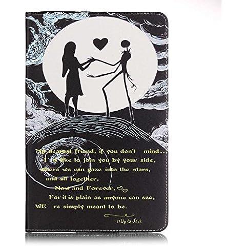 Custodia per Samsung Galaxy Tab A 9.7 T550 ,Cozy Hut Una varietà di modelli dipinti modelli Pattern PU Pelle Cover Stand Flip Custodia Cover per Samsung Galaxy Tab A 9.7 T550 -Le donne e l'amore cranio