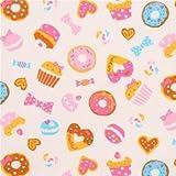 Hellcremefgarbener bunter Donut Cupcake Süßigkeiten