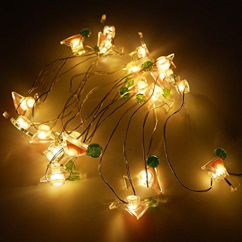 te, warmweiß, dekorativ, Lichterkette mit 20 LEDs für Innen- und Außenbereich, Geburtstag, Hochzeit, Urlaub, Partys und Heimdekoration. Drinking Cup ()