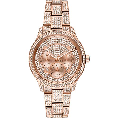 Michael Kors MK6628 Runway Pavé Rose Gold-Tone Stainless Steel Women's Watch
