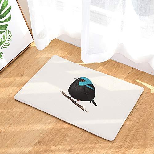JUNDY Anti-rutsch Extra Lang Badematte,Teppich Wohnzimmer Schlafzimmer Badezimmer Bodenmatte vogeldruckmatte saugfähige matten colour15 40 * 60cm