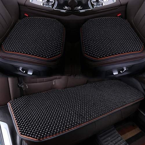 Muzhu Car Seat Cover Wooden Bead Cushion Massage Cool Pad Reduce Fatigue Office Chair,threepiecesareblack (Car Cover Massage Seat)