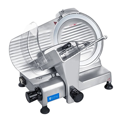 51bitgQVvtL. SS500  - Royal Catering - RCAM 220PRO - Meat Slicer - 0 to 12 mm - 120 W - Ø 22 cm - semi Automatic Sharpener - PRO Series
