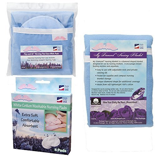 nuangel-flip-and-go-nursing-pad-case-with-nursing-blanket-and-all-natural-cotton-nursing-pad-set-blu