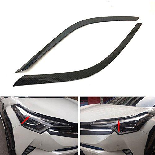 Odster Carbon-Faser-Art-Auto-Frontscheinwerferlampe Moulding Trim Auto Exterior Zubeh?r Fit f¨¹r Toyota CHR CHR 2016 2017 -
