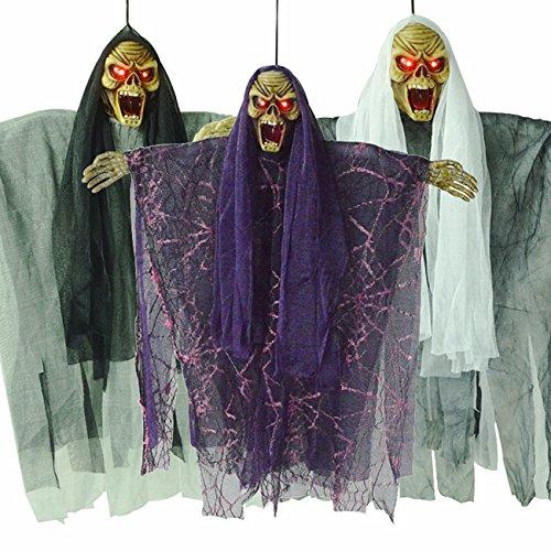 (THEE Halloween Hängende Sprechen Hexe Animierte Geisterhaus Dekoration)