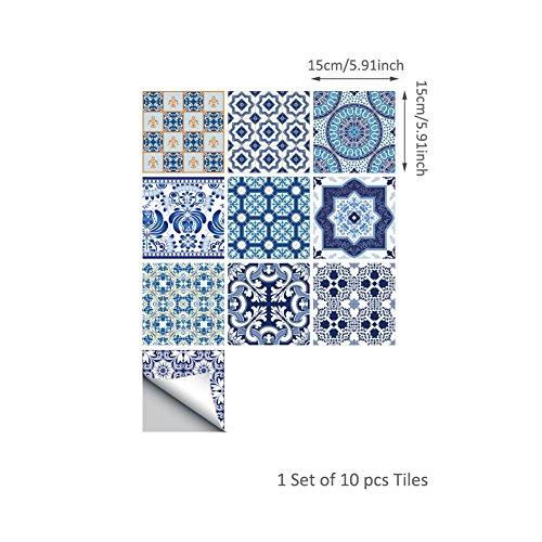 10 Aufkleber Fliesen, Dekorative Stickerfliesen Mit Ornamenten Für Wände  Und Fliesen, Marokkanische Fliesen PVC