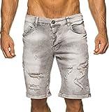 LEIF NELSON Herren Jeans Shorts LN1392-2797; W36