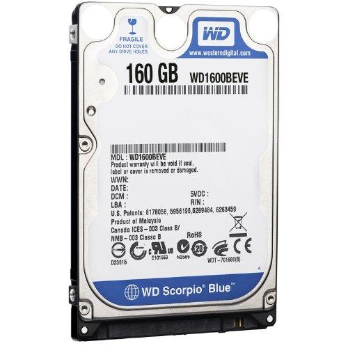 Western Digital WD1600BEVE Scorpio Blue 160GB interne Festplatte (6,4 cm (2,5 Zoll), 5400rpm, 8MB Cache, E-IDE) -