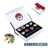 #10: Embernation Pokemon Gym Badges Set of 8 pcs - Kanto Region All badges with pin (Pokemon Box included)
