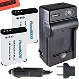 Power2000 2-Pack Of EN-EL23 Batteries And Battery Charger For Nikon Coolpix P900, P600, P610, S810c Digital Camera + Cleaning Cloth