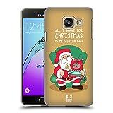 Head Case Designs Weihnachts-Wunsch Wilbur Die Katze All Star Weinachten Ruckseite Hülle für Samsung Galaxy A3 (2016)