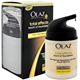2 x Olaz Total Effects Tagescreme Helle Haut je 50 ml/ Touch of Foundation/ 7-in-1 Anti-Ageing/ Tagespflege mit einem Hauch Make-up