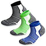 3 Pairs More Mile New York Cushioned Coolmax Sports Running Socks 8.5-10.5 UK / 42-45 EU